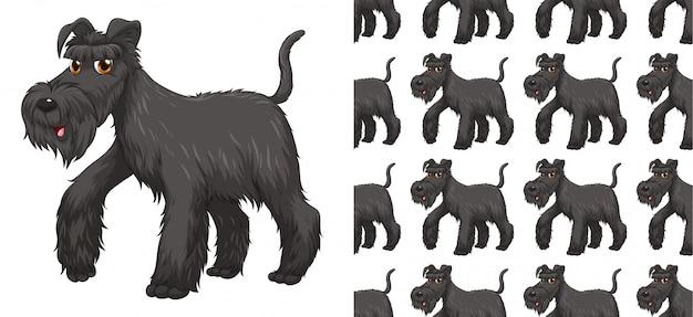 Desenho de padrão animal sem costura e isolado