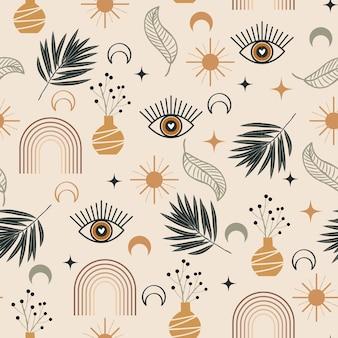 Desenho de padrão boho desenhado à mão