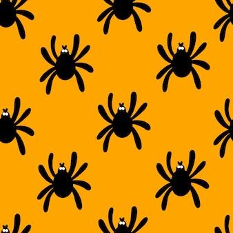 Desenho de padrão de aranha para o dia das bruxas