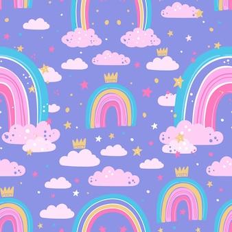 Desenho de padrão de arco-íris