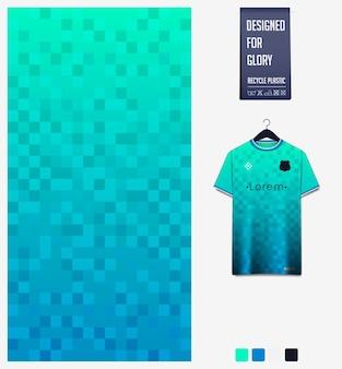 Desenho de padrão de camisa de futebol