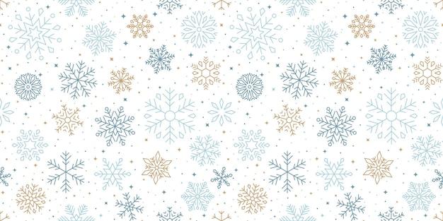 Desenho de padrão de flocos de neve de inverno
