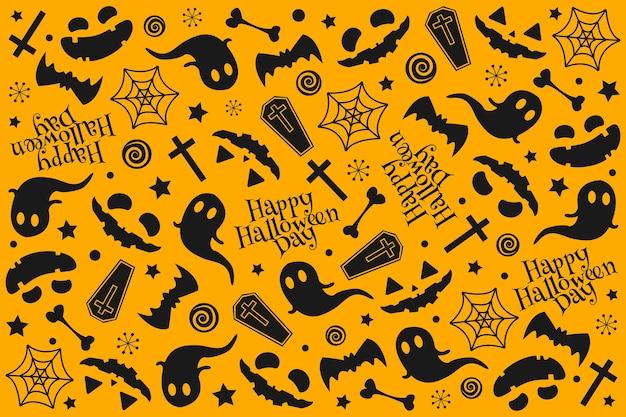 Desenho de padrão de halloween.
