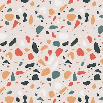 Desenho de padrão de mosaico colorido