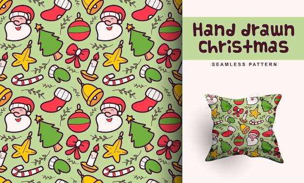 Desenho de padrão de natal desenhado à mão