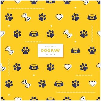 Desenho de padrão de pata de cachorro fofo