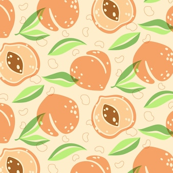 Desenho de padrão de pêssego