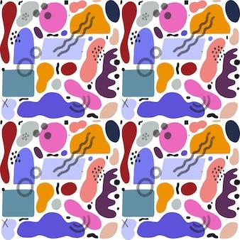 Desenho de padrão de pintura abstrata pintada à mão