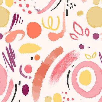 Desenho de padrão de pintura abstrata pintado à mão