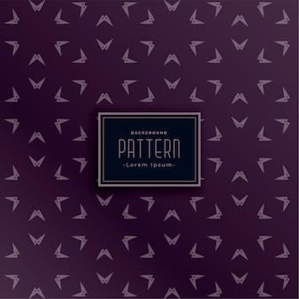 Desenho de padrão geométrico de estilo ponteiro de seta abstrato