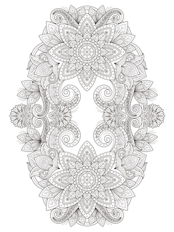 Desenho de página para colorir de flor graciosa em linha requintada