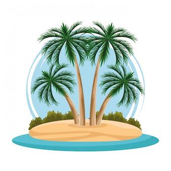 Desenho de paisagem de ilha