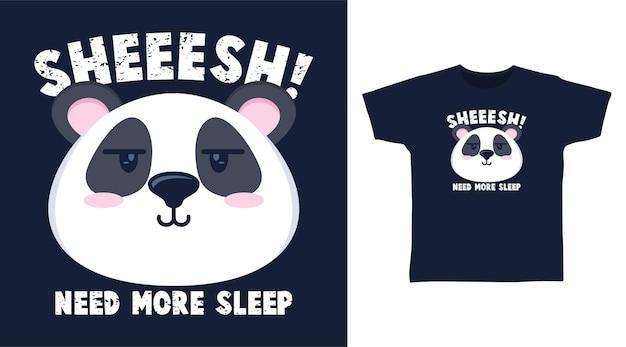Desenho de panda fofo para o design de camisetas