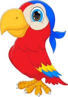 Desenho de papagaio fofo em fundo branco