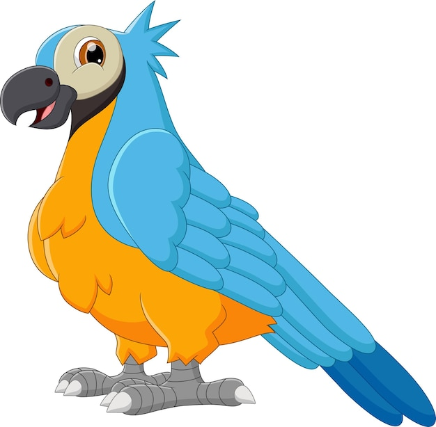 Desenho de papagaio fofo