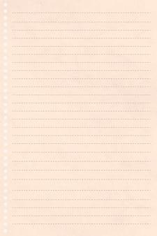 Desenho de papel de carta creme em branco