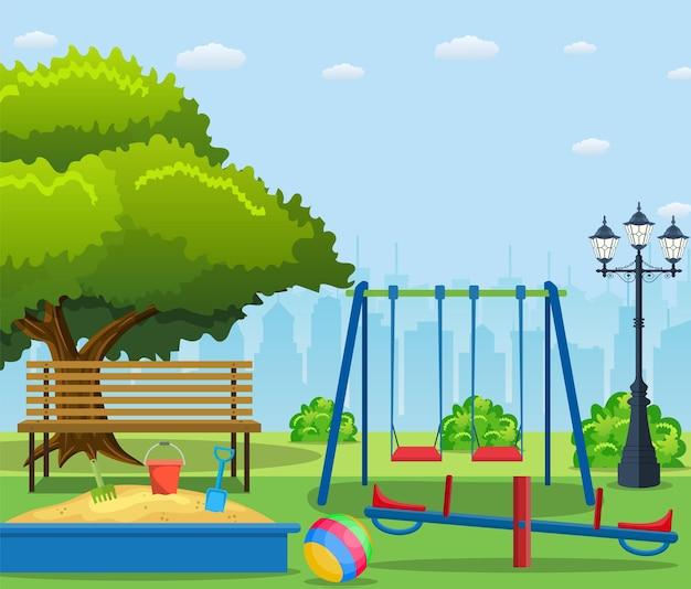 Desenho de parque infantil