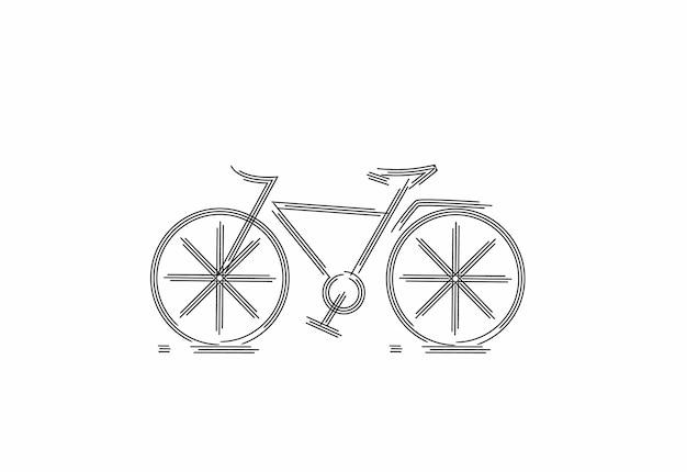 Desenho de partículas de ciclismo moderno, ilustração do vetor.