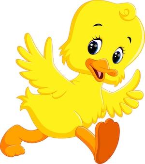 Desenho de pato engraçado