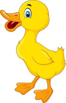 Desenho de pato feliz
