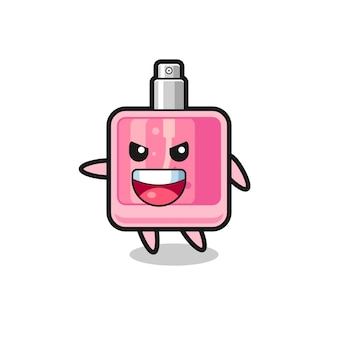 Desenho de perfume com pose muito animada, design de estilo fofo para camiseta, adesivo, elemento de logotipo