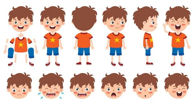 Desenho de personagem de banda desenhada para animação