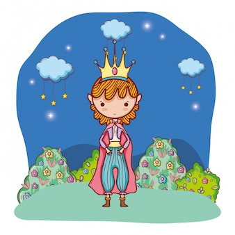 Desenho de personagem de conto de fadas