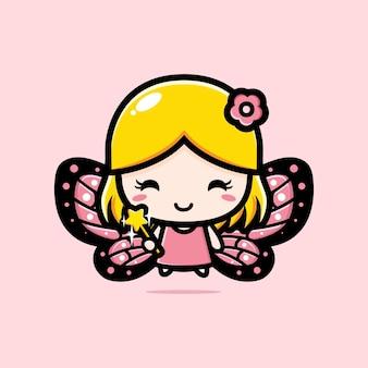 Desenho de personagem de fada bonita