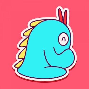Desenho de personagem de monstro fofo