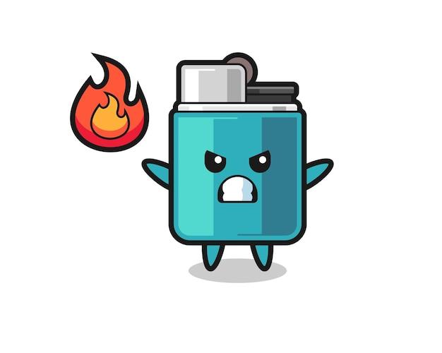 Desenho de personagem mais leve com gesto de raiva, design fofo