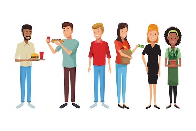 Desenho de pessoas de amigos