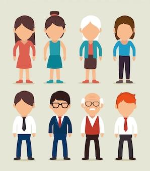 Desenho de pessoas de negócios