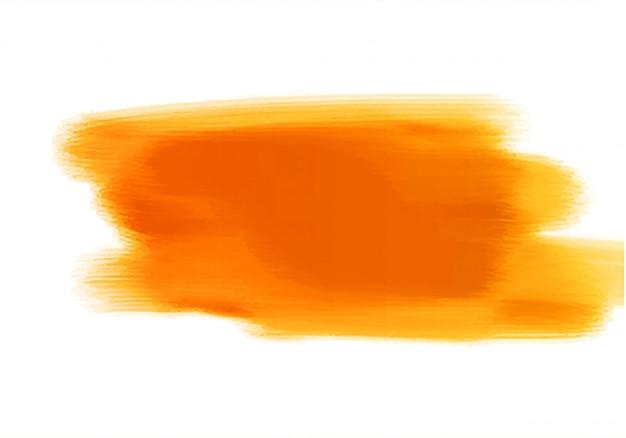 Desenho de pincel de mão aquarela laranja abstrato