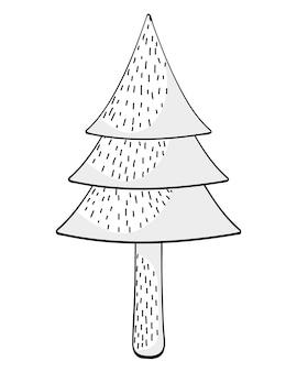Desenho de pinheiro de árvore
