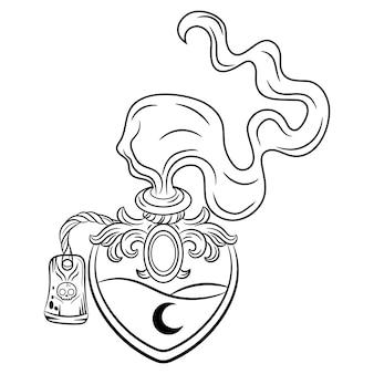 Desenho de poção do amor de halloween para colorir