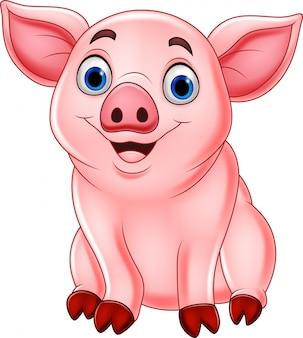 Desenho de porco bonito