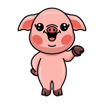 Desenho de porco fofinho apresentando