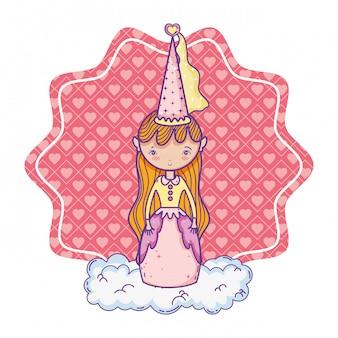 Desenho de princesa mágica bonito