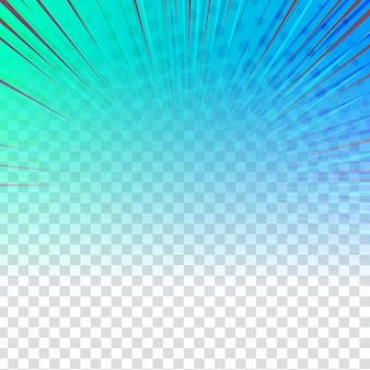 Desenho de quadrinhos colorido abstrato em fundo transparente