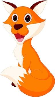Desenho de raposa feliz