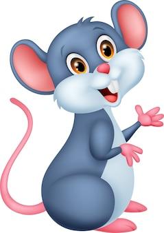 Desenho de rato feliz