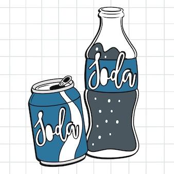 Desenho de refrigerante