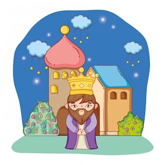 Desenho de rei homem sábio