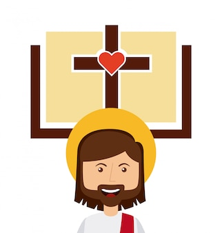 Desenho de religião católica