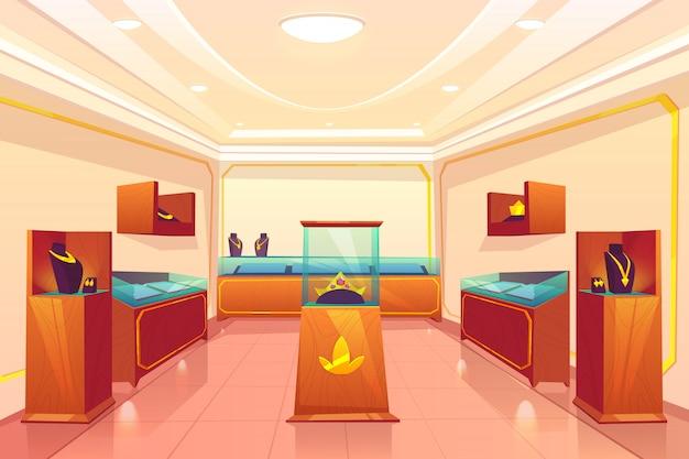 Desenho de sala de comércio de loja de joias de luxo