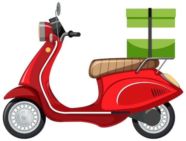 Desenho de scooter isolado em branco