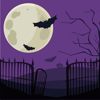 Desenho de sepultura de halloween