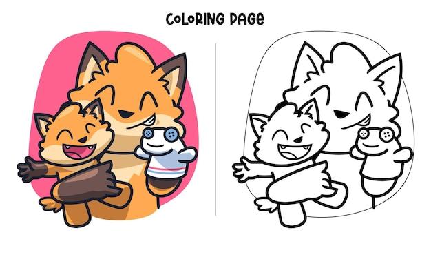 Desenho de sockpuppet de father fox para colorir