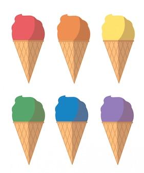 Desenho de sorvete pastel