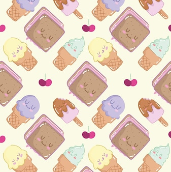 Desenho de sorvetes